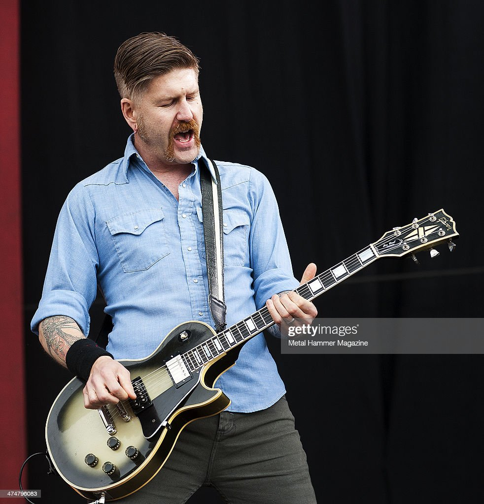 Guitarist Bill Kelliher of American heavy metal group Mastodon performing live on the Main Stage at Download Festival on June 15, 2013.