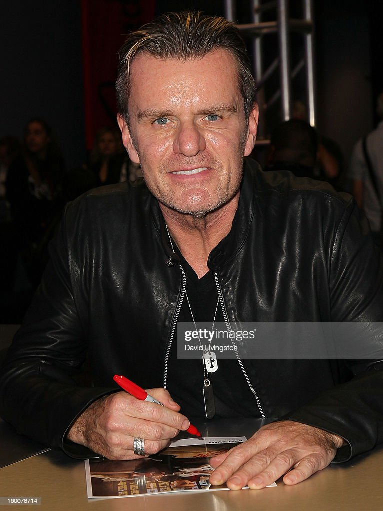 Guitarist <a gi-track='captionPersonalityLinkClicked' href=/galleries/search?phrase=Billy+Duffy&family=editorial&specificpeople=2085055 ng-click='$event.stopPropagation()'>Billy Duffy</a> attends the 2013 NAMM Show - Day 2 at the Anaheim Convention Center on January 25, 2013 in Anaheim, California.
