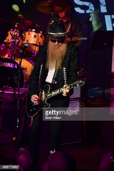 Guitarist Billy Gibbons performs during the 2014 Wall Street Rocks Benefit Concert at Highline Ballroom on November 10 2014 in New York City