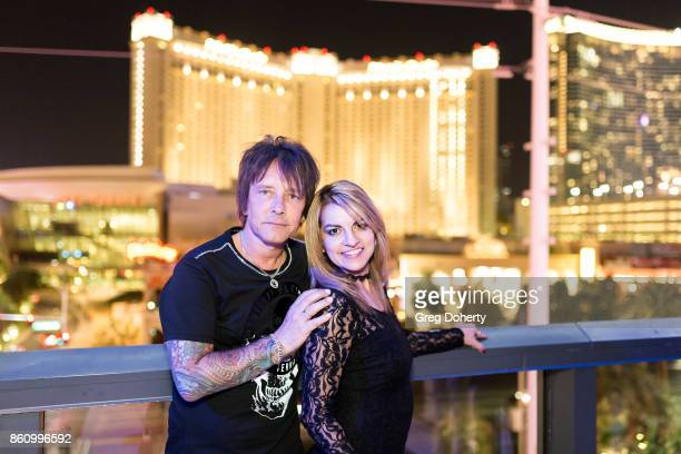 Guitarist Billy Morrison and Alexa Apsey attend the Kira Reed and Taimie Hannum Double Birthday Bash at Hard Rock Live Las Vegas on October 12 2017...