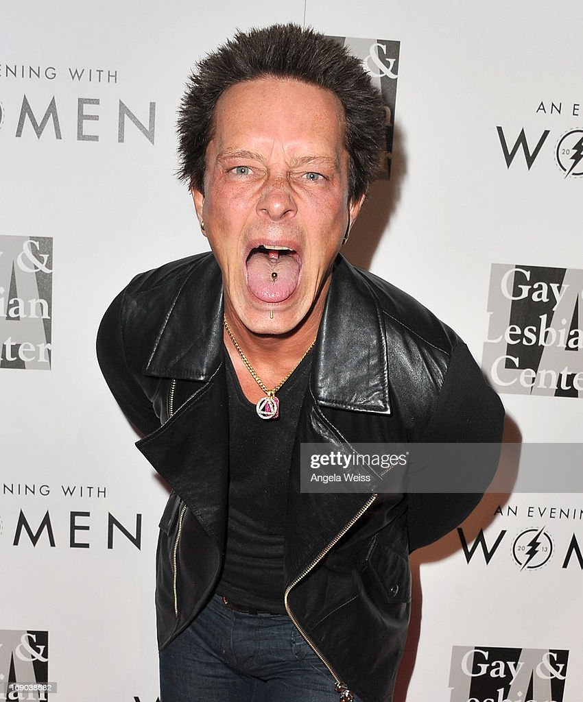 Guitarist Billy Morrison arrives at the L.A. Gay & Lesbian Center's 2013 'An Evening With Women' Gala at The Beverly Hilton Hotel on May 18, 2013 in Beverly Hills, California.