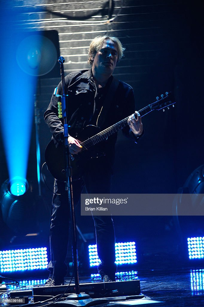 Guitarist Brad Fernquist of the band The Goo Goo Dolls performs during VH1's 'Super Bowl Blitz: Six Nights + Six Concerts' at St. George Theatre on January 31, 2014 in the Staten Island borough of New York City.