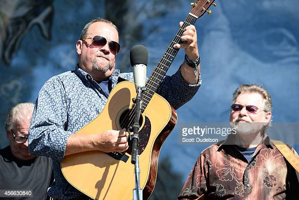 Guitarist Brian Aldridge and dobro player Tom Boyd perform with the Dry Branch Fire Squad at Hardly Strictly Bluegrass at Golden Gate Park on October...