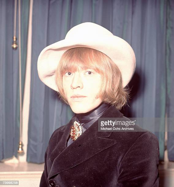 Guitarist Brian Jones of the rock and roll band 'The Rolling Stones' pose for a portrait on January 11 1967 in London England