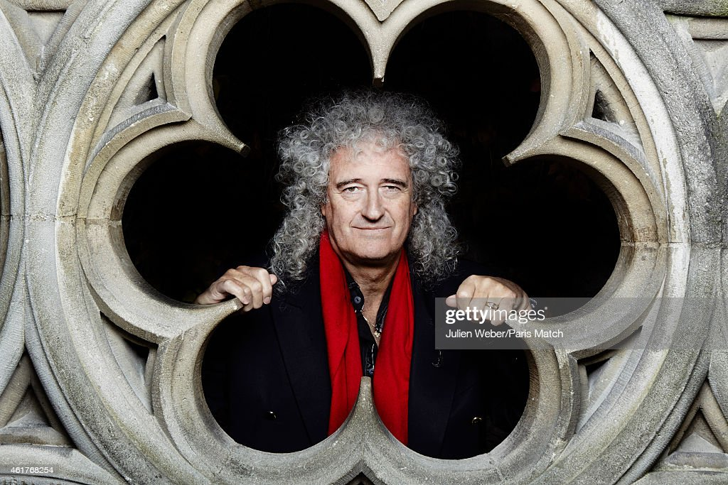Guitarist <a gi-track='captionPersonalityLinkClicked' href=/galleries/search?phrase=Brian+May&family=editorial&specificpeople=158059 ng-click='$event.stopPropagation()'>Brian May</a> is photographed for Paris Match on November 24, 2104 in Paris, France.