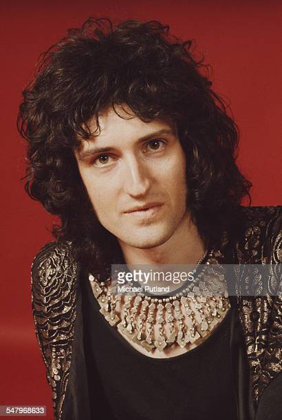 Guitarist Brian May of British rock band Queen London 1973 Photo by Michael Putland/Getty Images