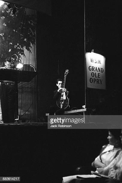 Guitarist Chet Atkins onstage at the Grand Ole Opry 20th century