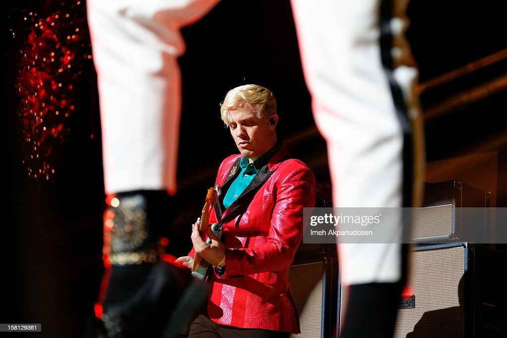 Guitarist Chris Allen of Neon Tyler performs onstage at the 23rd Annual KROQ Almost Acoustic Christmas at Gibson Amphitheatre on December 9, 2012 in Universal City, California.
