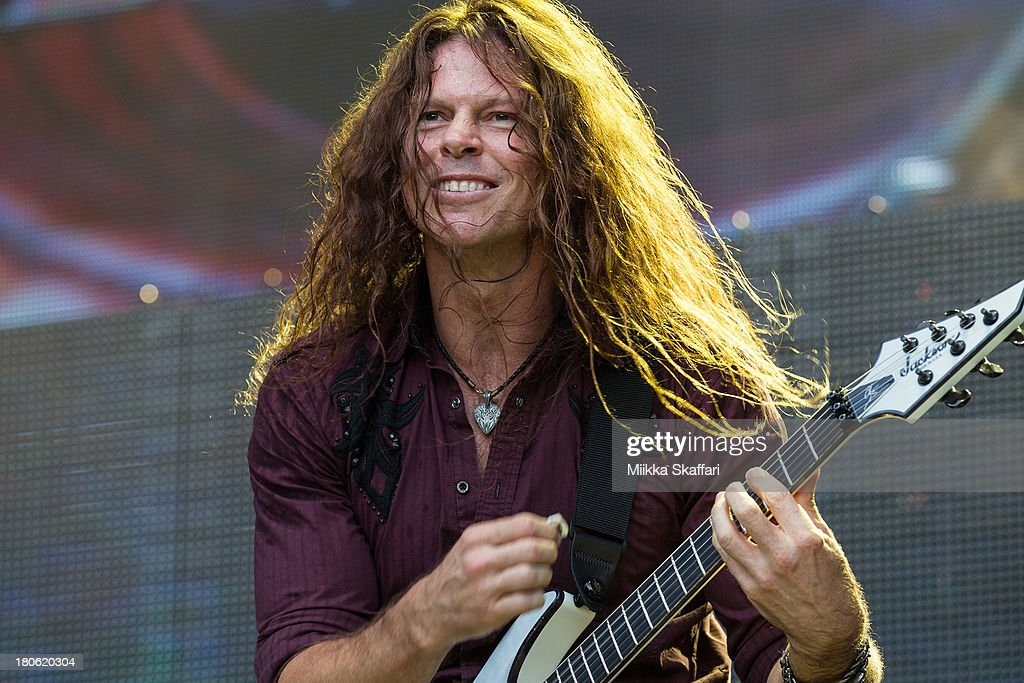 Guitarist Chris Broderick of Megadeth performs in Monster Energy's Aftershock Festival at Discovery Park on September 14, 2013 in Sacramento, California.