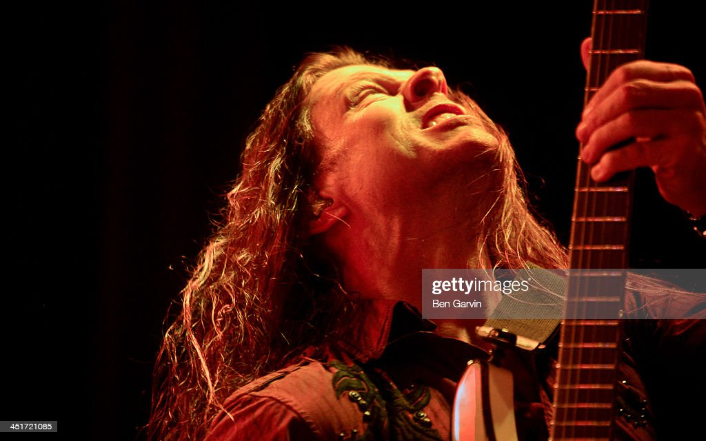 Guitarist Chris Broderick performs with Megadeth at the Myth Nightclub on November 23, 2013 in St. Paul, Minnesota. It was their first stop as part of their new Super Collider Tour.