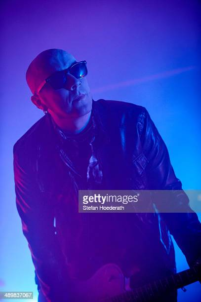 Guitarist Chris Catalyst of British group The Sisters Of Mercy performs live during a concert at Columbiahalle on May 12 2014 in Berlin Germany