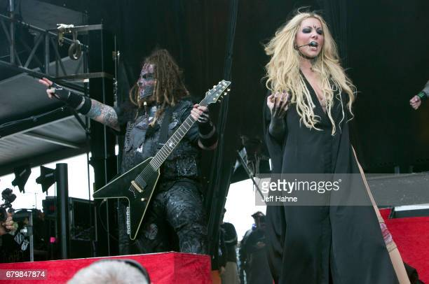 Guitarist Chris Howorth and singer Maria Brink of In This Moment perform during Carolina Rebellion at Charlotte Motor Speedway on May 6 2017 in...