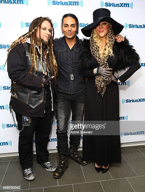 Guitarist Chris Howorth SiriusXM Director of Programming for Liquid Metal and Octane channels Jose Mangin and singer Maria Brink of the metal band In...