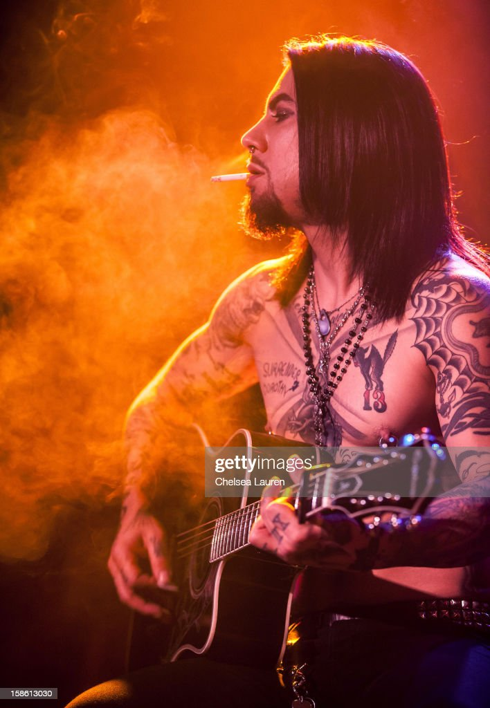 Guitarist Dave Navarro performs at the Camp Freddy holiday residency at The Roxy Theatre on December 20, 2012 in West Hollywood, California.