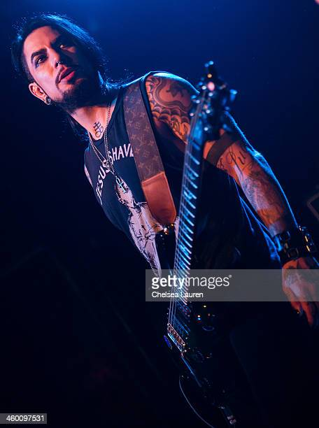 Guitarist Dave Navarro performs with Camp Freddy at The Roxy Theatre on December 31 2013 in West Hollywood California