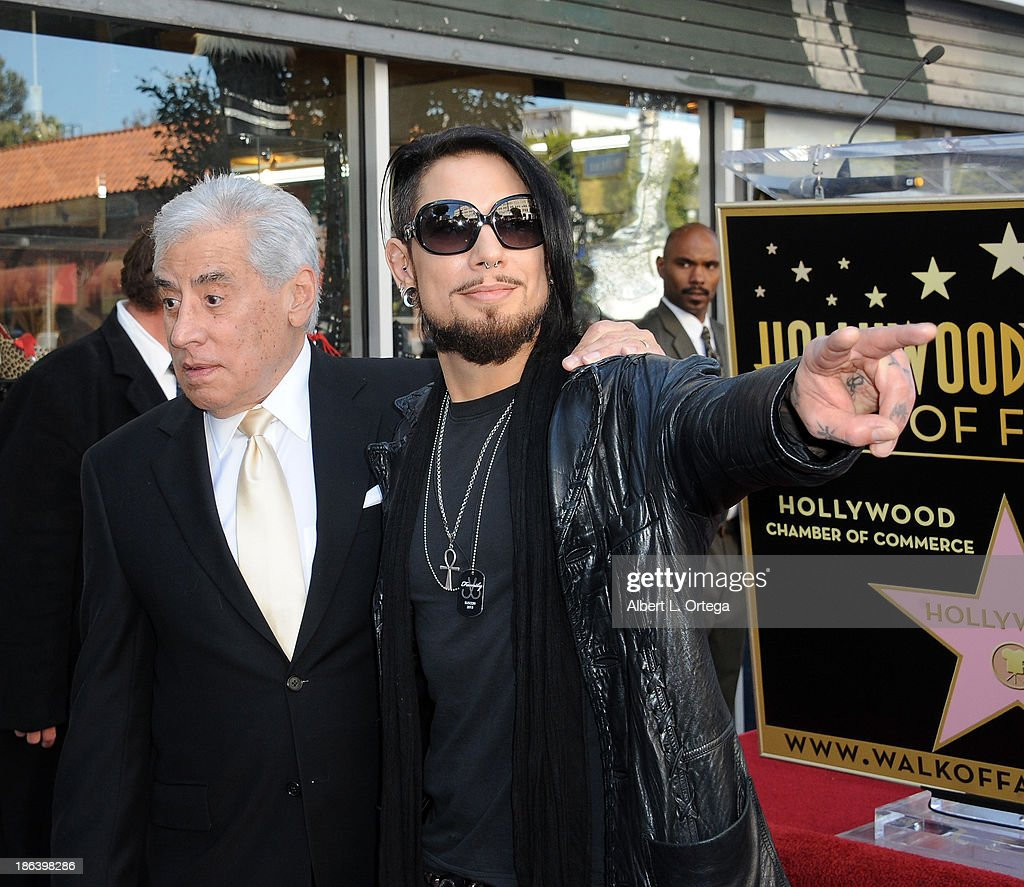 Guitarist Dave Navarro with father at Jane's Addiction Star On The Hollywood Walk Of Fame Ceremoney on October 30, 2013 in Hollywood, California.