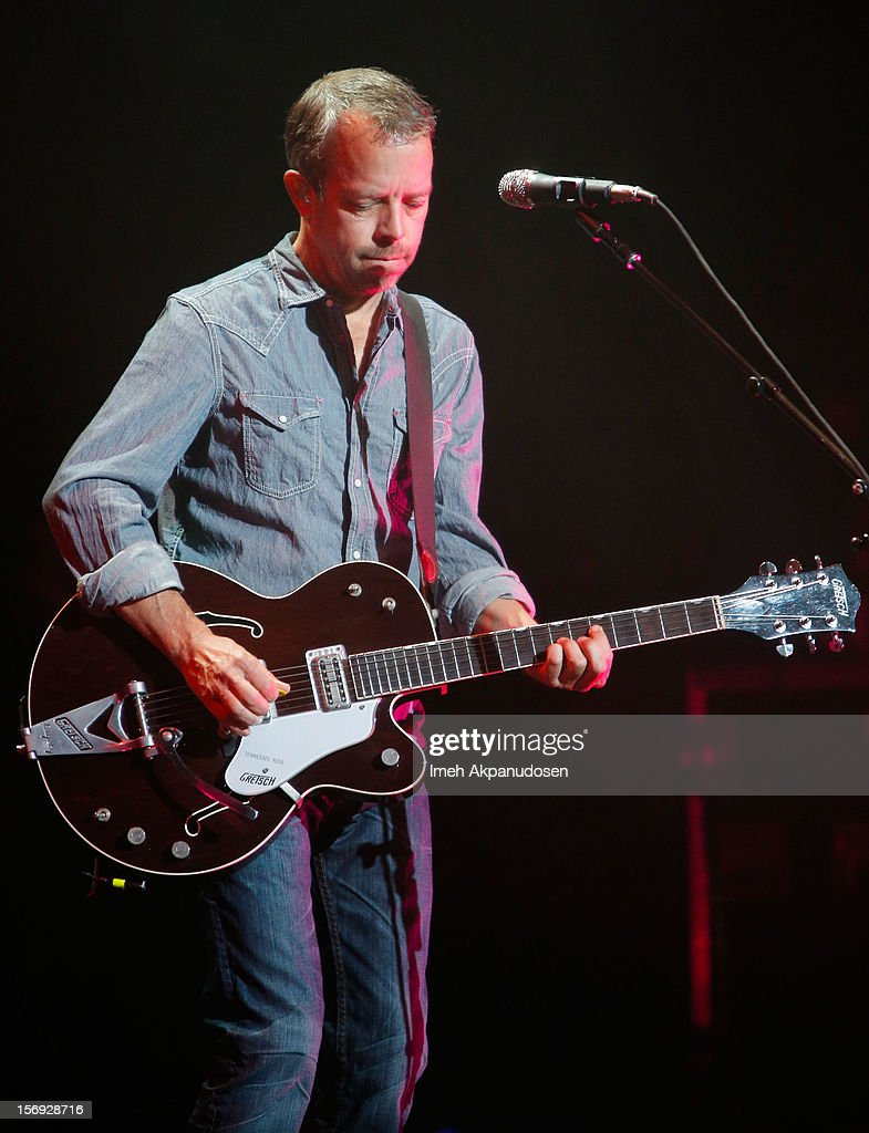 Guitarist David Bryson of Counting Crows performs onstage at The Wiltern on November 24, 2012 in Los Angeles, California.