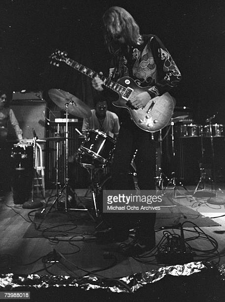 Guitarist Duane Allman of the Allman Brothers performs at the Sitar on October 17 1970 in Spartanburg South Carolina