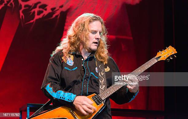Guitarist Frank Hannon performs with his band Tesla at Route 66 Casino's Legends Theater on APRIL 20 2013 in Albuquerque New Mexico