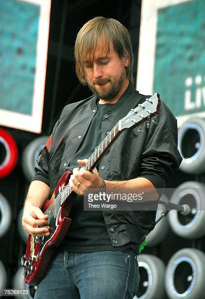 Guitarist Fred Mascherino of Taking Back Sunday performs during Live Earth New York at Giants Stadium on July 7 2007 in East Rutherford New Jersey