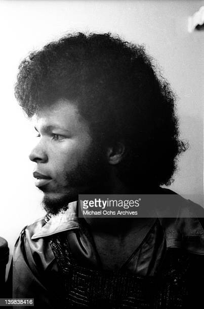Guitarist Freddie Stone of the psychedelic soul group 'Sly And The Family Stone' poses for a portrait session in 1968 in New York New York