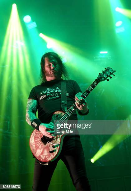 Guitarist Gary Holt of Slayer performs at The Joint inside the Hard Rock Hotel Casino on August 4 2017 in Las Vegas Nevada