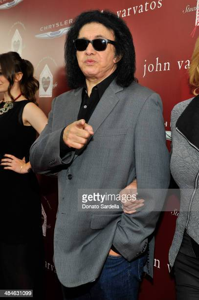 Guitarist Gene Simmons arrives at the John Varvatos 11th Annual Stuart House Benefit at John Varvatos Boutique on April 13 2014 in West Hollywood...