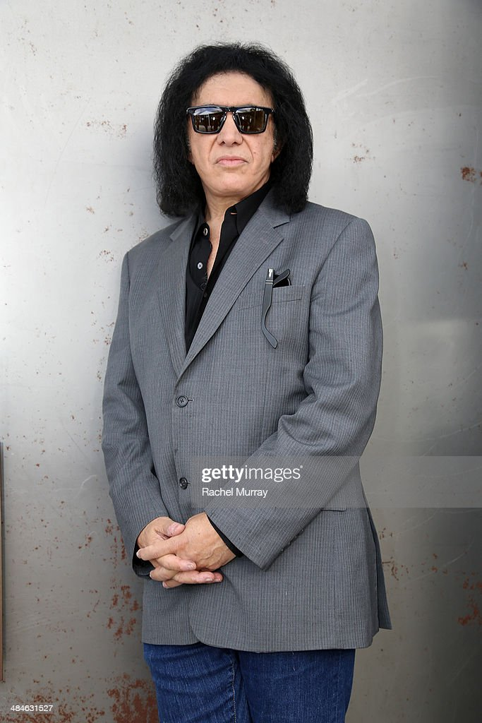 Guitarist <a gi-track='captionPersonalityLinkClicked' href=/galleries/search?phrase=Gene+Simmons&family=editorial&specificpeople=138593 ng-click='$event.stopPropagation()'>Gene Simmons</a> attends the John Varvatos 11th Annual Stuart House Benefit at John Varvatos Boutique on April 13, 2014 in West Hollywood, California.