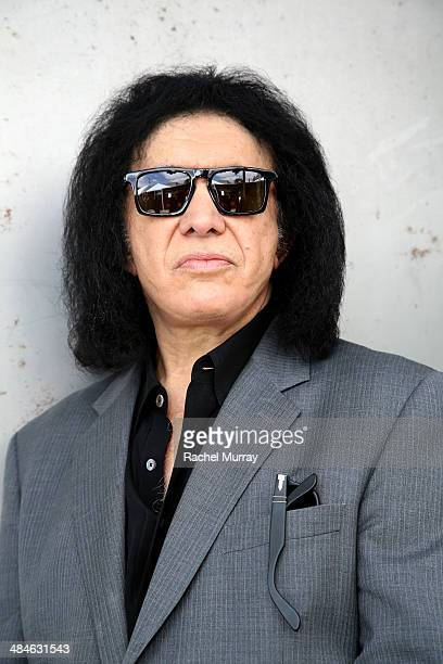 Guitarist Gene Simmons attends the John Varvatos 11th Annual Stuart House Benefit at John Varvatos Boutique on April 13 2014 in West Hollywood...