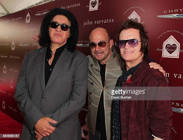 Guitarist Gene Simmons designer John Varvatos and bassist Glenn Hughes attends the 11th Annual John Varvatos Stuart House Benefit at John Varvatos on...