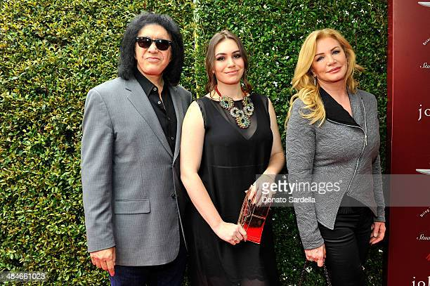 Guitarist Gene Simmons Sophie Simmons and actress Shannon Tweed arrives at the John Varvatos 11th Annual Stuart House Benefit presented by Chrysler...