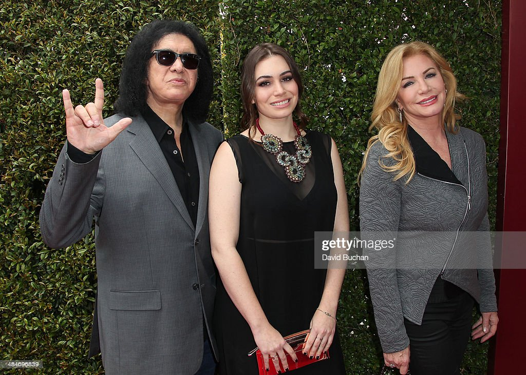 Guitarist Gene Simmons Sophie Simmons and actress Shannon Tweed attends the 11th Annual John Varvatos Stuart House Benefit at John Varvatos on April...