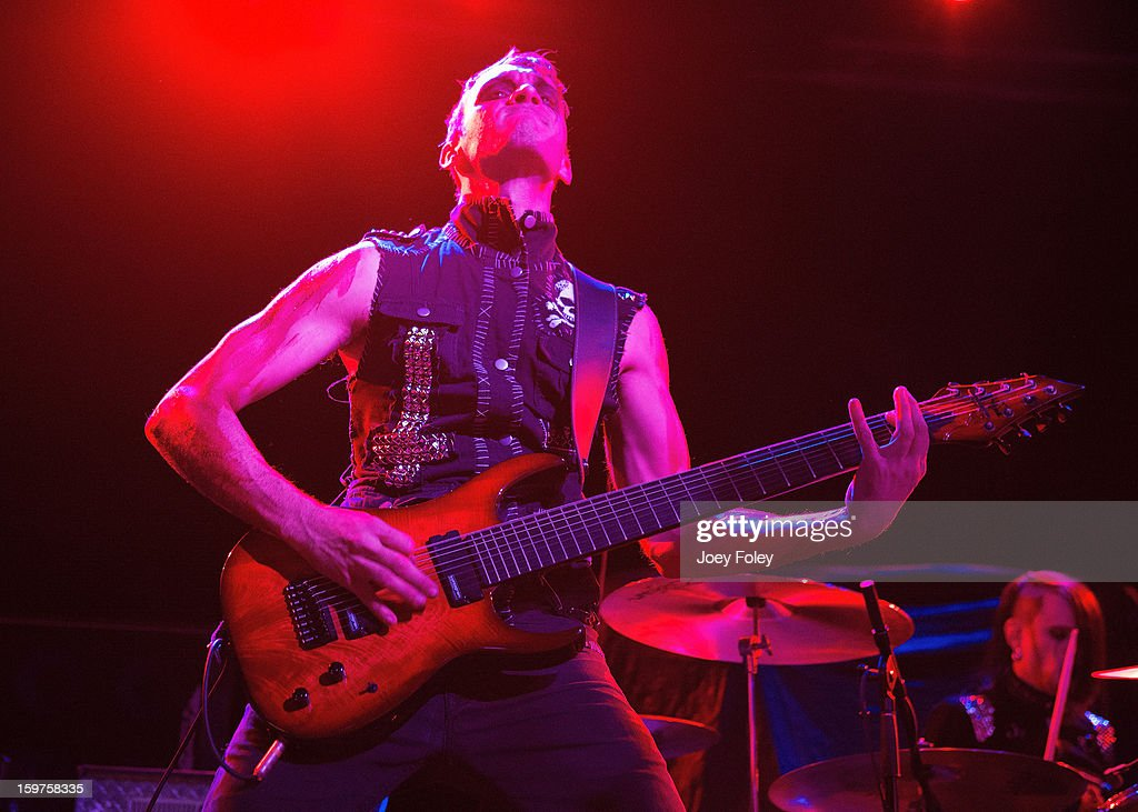 Guitarist Henry Flury of Butcher Babies performs onstage at Bogart's on January 19, 2013 in Cincinnati, Ohio.