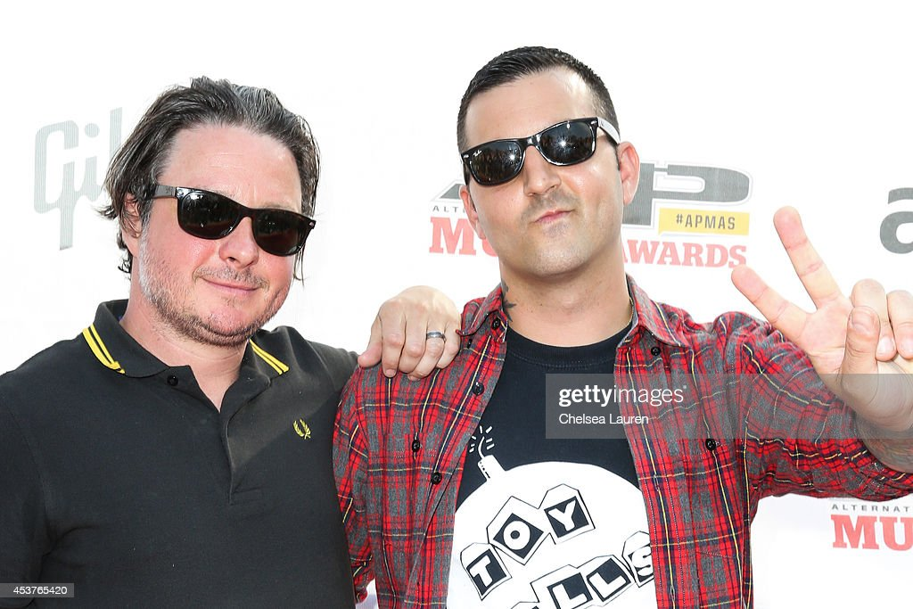 Guitarist Jack O'Shea (L) and vocalist Anthony Raneri of Bayside attend the 2014 Gibson Brands AP Music Awards at the Rock and Roll Hall of Fame and Museum on July 21, 2014 in Cleveland, Ohio.