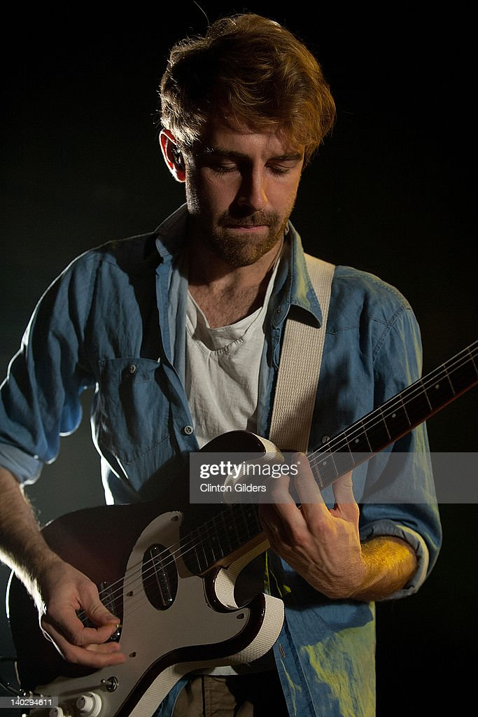 Guitarist Jacob Tilley of Young The Giant performs at The Sound Academy on March 1, 2012 in Toronto, Canada.