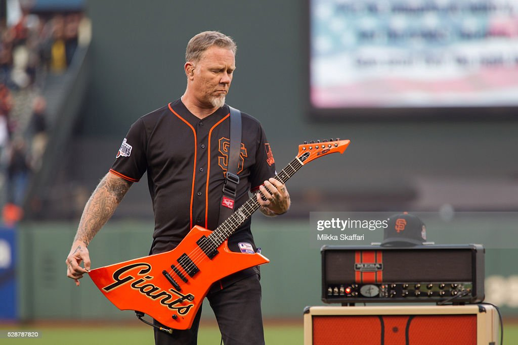 metallica night at the san francisco giants game getty images. Black Bedroom Furniture Sets. Home Design Ideas