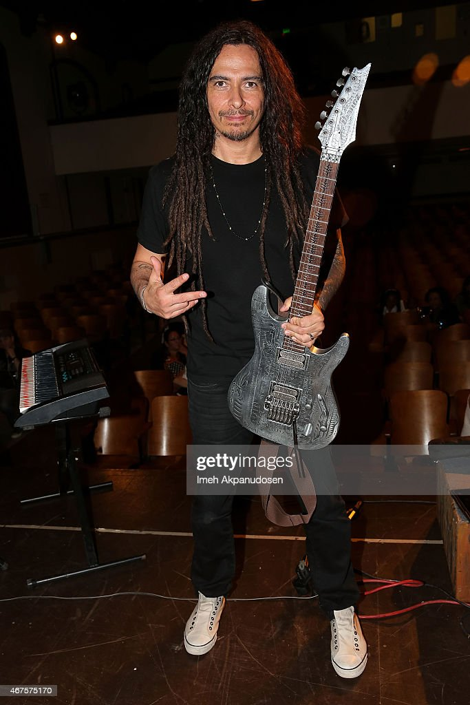Guitarist James 'Munky' Shaffer of KoRn attends the Little Kids Rock $1.2 million donation celebration from the Hot Topic Foundation at Mckinley School on March 25, 2015 in Pasadena, California.