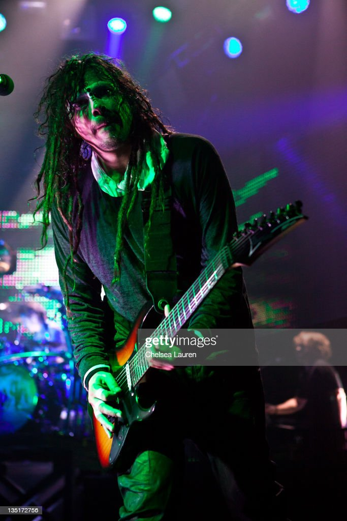 Guitarist James 'Munky' Shaffer of Korn performs at Hollywood Palladium on December 6, 2011 in Hollywood, California.