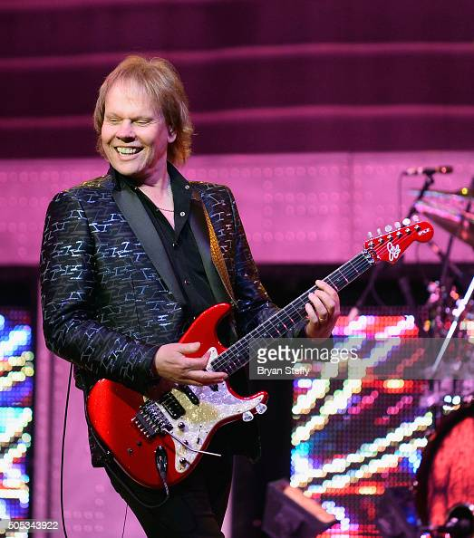 Guitarist James Young of Styx performs at The Pearl concert theater at Palms Casino Resort on January 16 2016 in Las Vegas Nevada