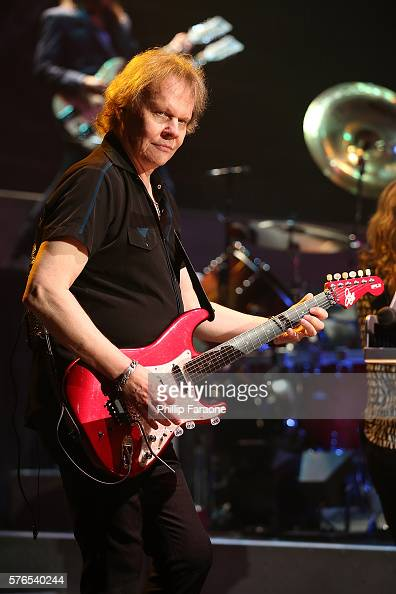 Guitarist James Young of the band Styx performs at the Pacific Amphitheatre at Pacific Amphitheatre on July 15 2016 in Costa Mesa California