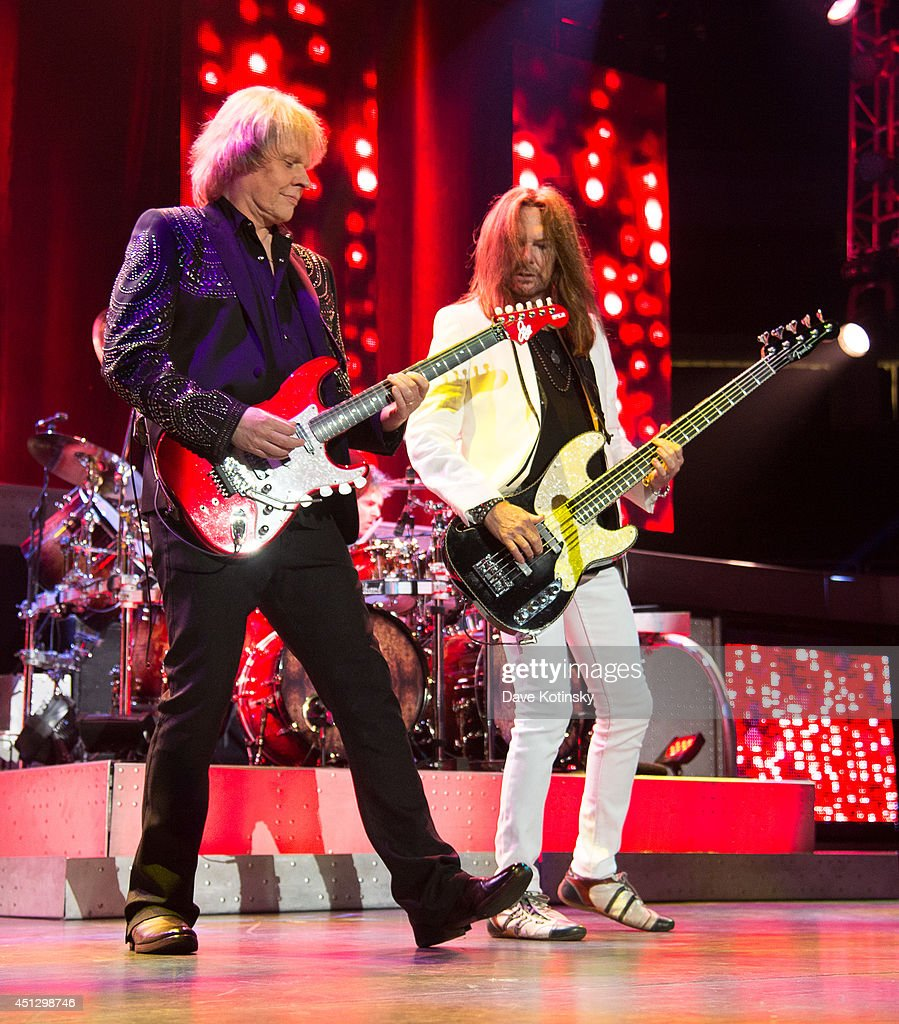 Guitarist James Young of the group Styx performs at Prudential Center on June 26, 2014 in Newark, New Jersey.