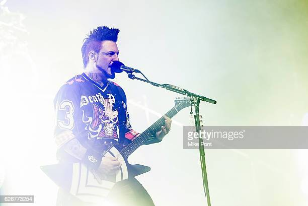 Guitarist Jason Hook of Five Finger Death Punch performs at Prudential Center on November 26 2016 in Newark New Jersey