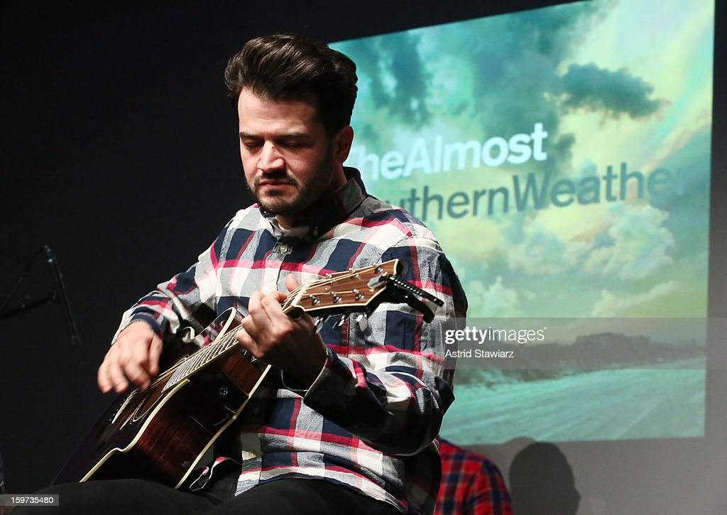 Guitarist Jay Vilardi of The Almost performs during Apple Store Soho Presents: The Almost at Apple Store Soho on January 19, 2013 in New York City.