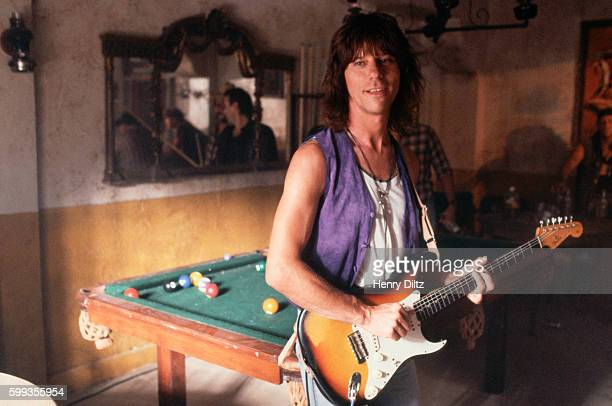 Guitarist Jeff Beck attends the filming of Bon Jovi music video Beck makes a cameo appearance