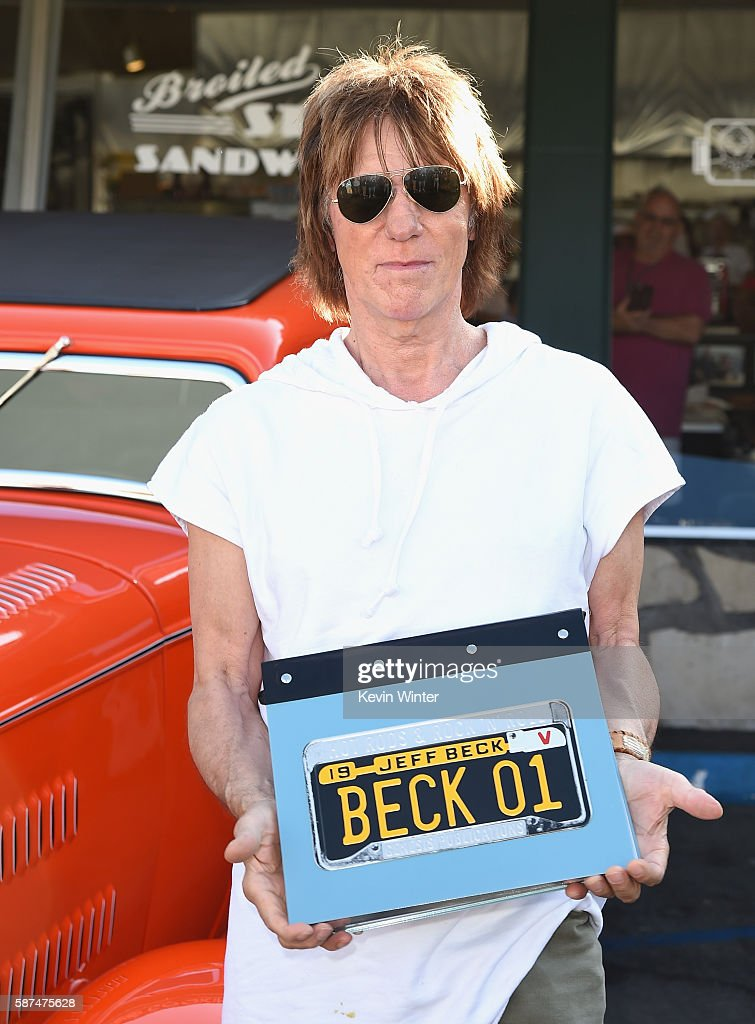"Jeff Beck Greets Fans In Celebration of New Book ""BECK01"" At Mel's Diner"