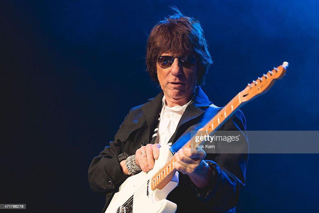 Guitarist Jeff Beck performs in concert at Cedar Park Center on April 30, 2015 in Cedar Park, Texas.