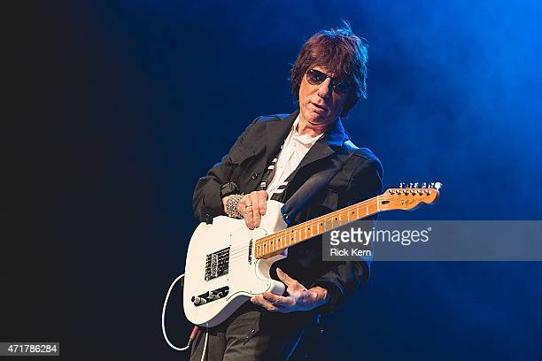 Guitarist Jeff Beck performs in concert at Cedar Park Center on April 30 2015 in Cedar Park Texas