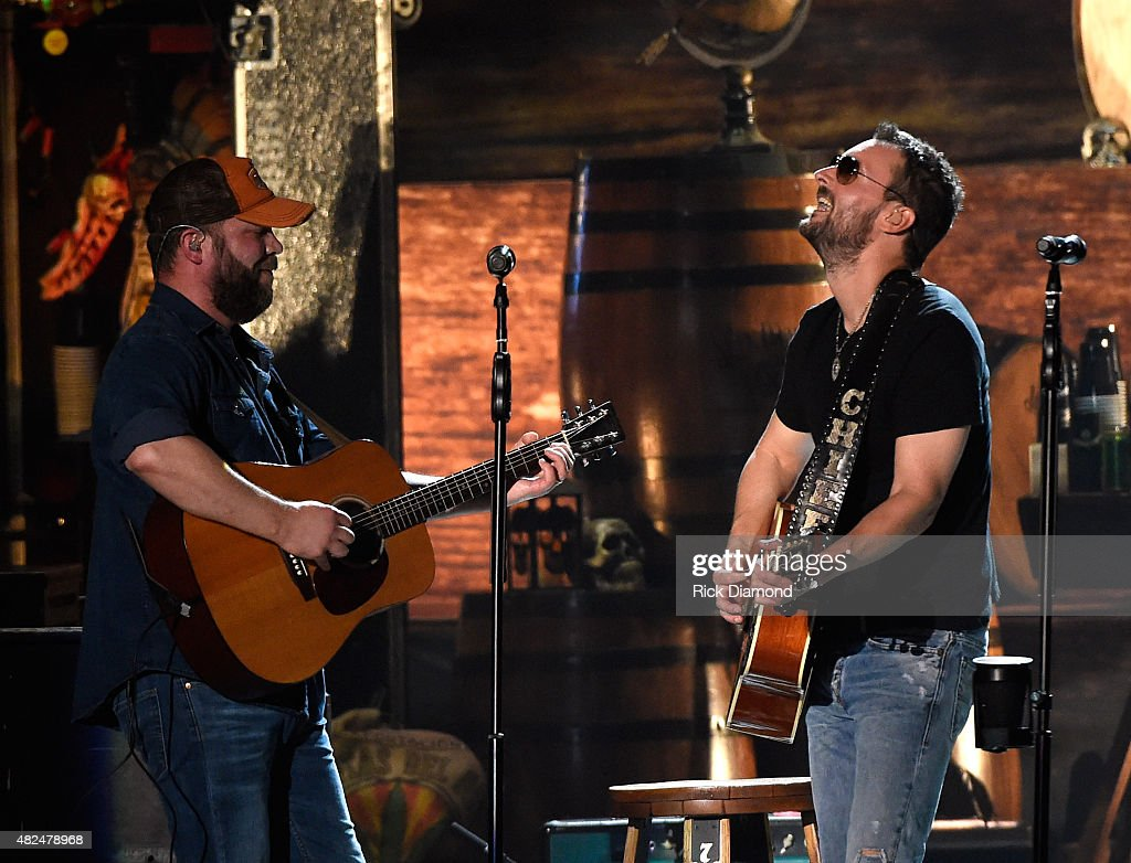 Guitarist Jeff Hyde joins Singer/Songwriter Eric Church for the opening of the new Ascend Amphitheater with the first of two sold out solo shows on July 30, 2015 in Nashville, Tennessee.