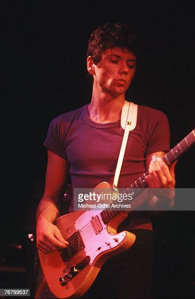 Guitarist Jerry Harrison of the Talking Heads performs at a concert circa the early1980s in Hollywood California