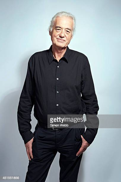 Guitarist Jimmy Page is photographed on June 16 2014 in London England